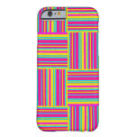 Neon Multicolored Weaved Squares Barely There iPhone 6 Case