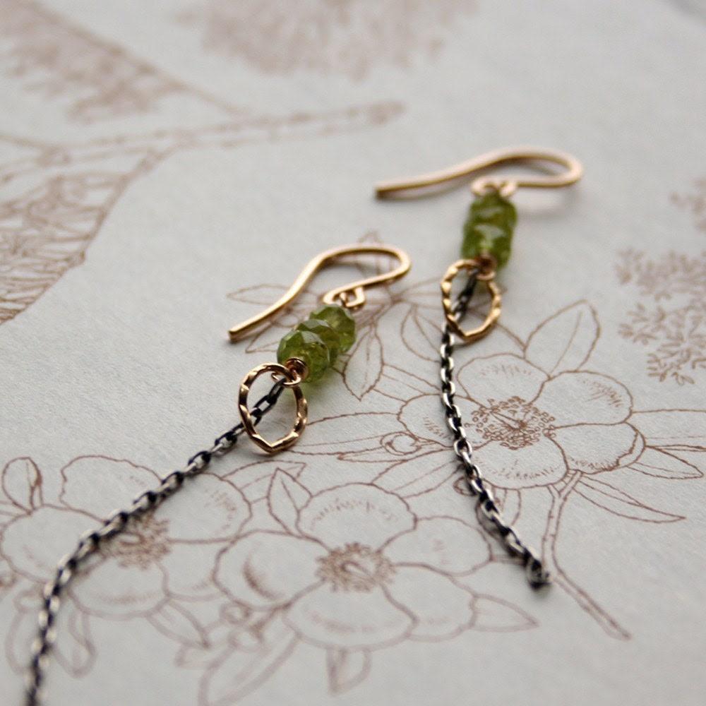 Peridot Kite Earrings