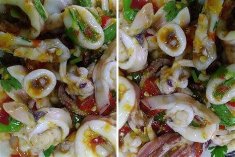 resipi sotong masak ala thai tak payah lauk lain dah rasa