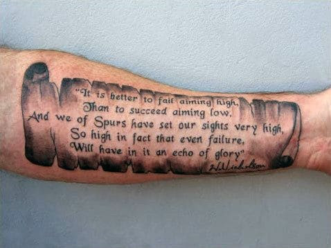 40 Forearm Quote Tattoos For Men Worded Design Ideas