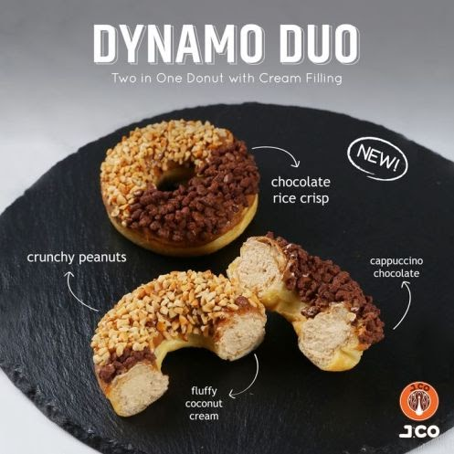 Experience a flavorbomb of texture and taste with the brand new J.co #DynamoDuo Donut