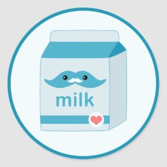 Milk Mustache Sticker sticker