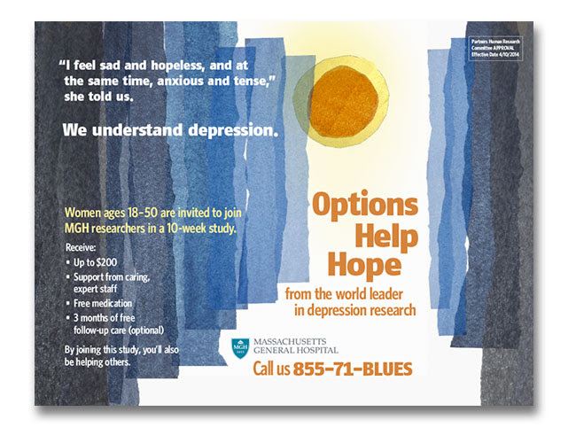MGH Depression Research subway ads for recruitment ...