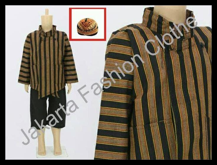 MURAH Baju + Celana + Blangkon + Surjan Lurik Anak L 3753664585