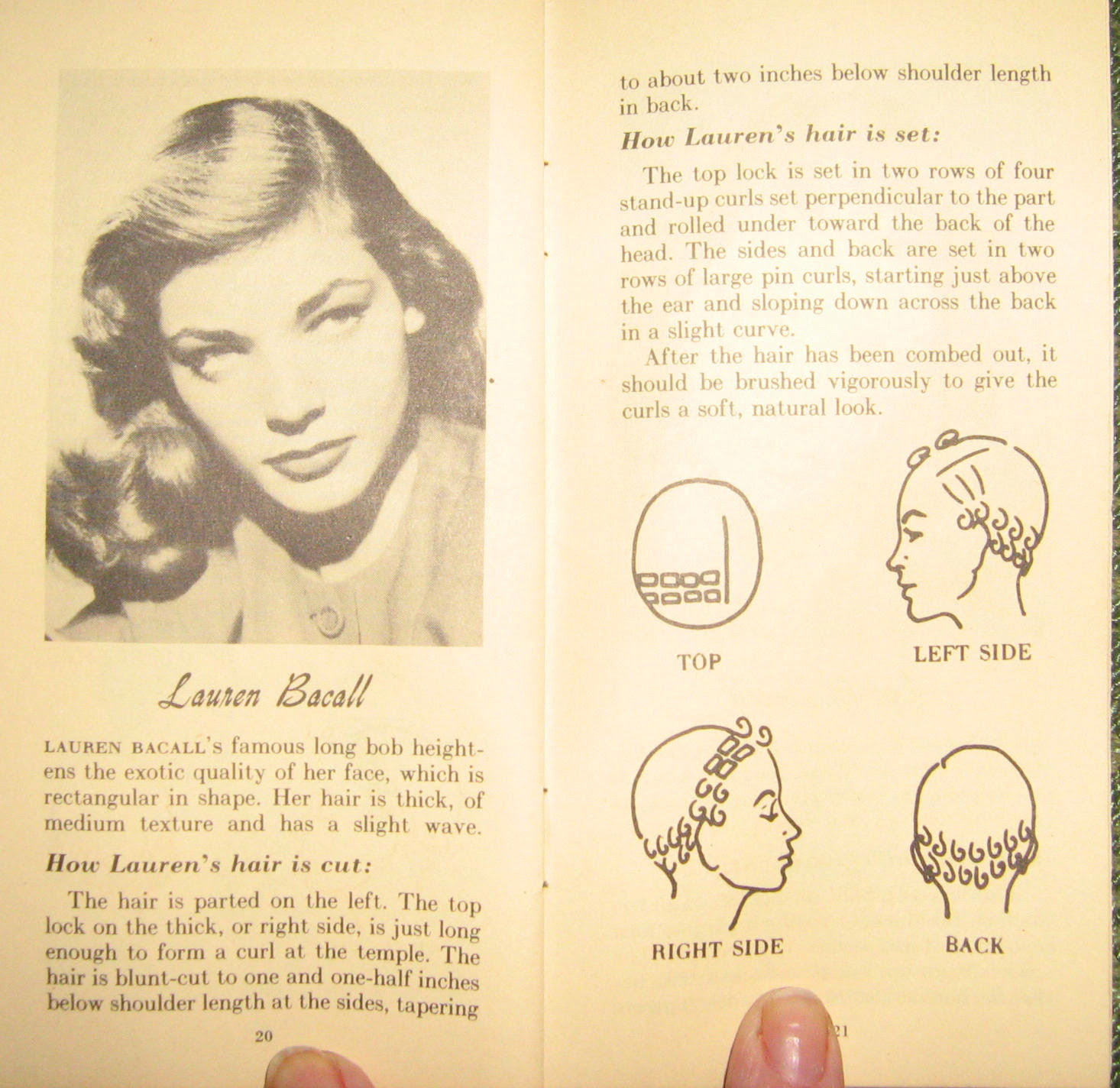 Victory Vintage Pin Curl Sets And Lauren Bacall Hair