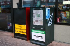 the onion newspaper dispenser