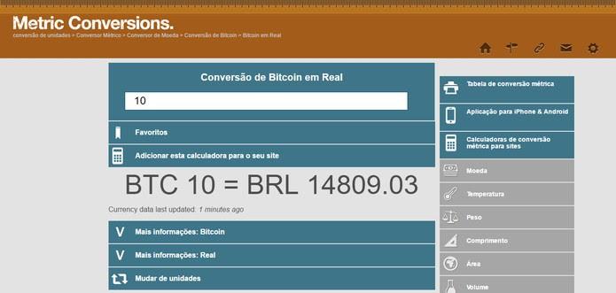 converter bitcoin em euros