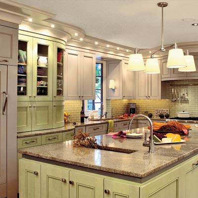 Taupe Gray and Pistachio Green   Spiced-Up Kitchen Color Combos ...