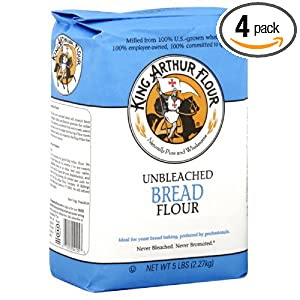 King Arthur Flour Flour White Bread, 5-pounds (Pack of 4)