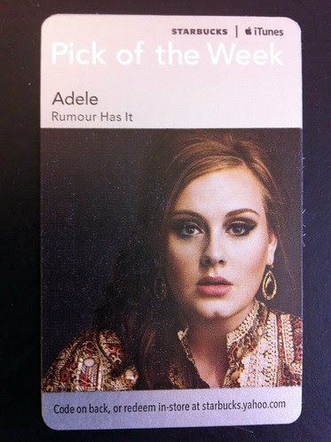 Starbucks iTunes Pick of the Week - Adele - Rumour Has It