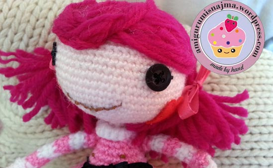 Lalaloopsy Toffee Cocoa Cuddles doll amigurumi-13