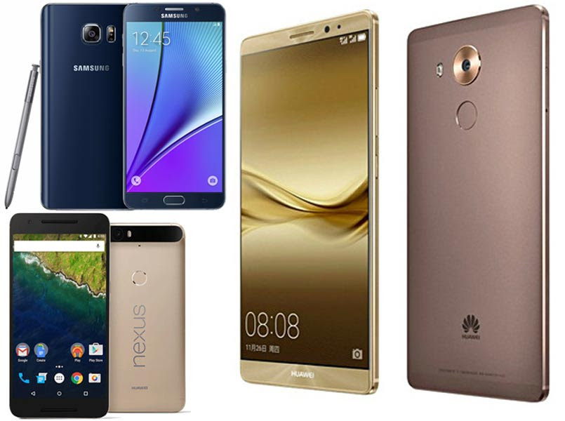Huawei Mate 8 Vs Google Nexus 6p Vs Samsung Galaxy Note 5