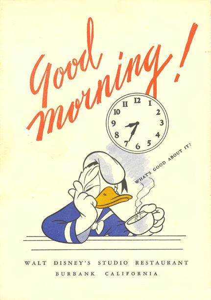 "Classic Donald Duck Coffee Poster   ""Good Morning! What's good about it?"""