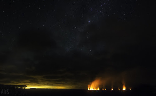 Fires in Foxton by Astronomr