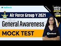 Airforce Y Group GK Questions | Air Force Mock Test 2021 | General Awareness MCQ