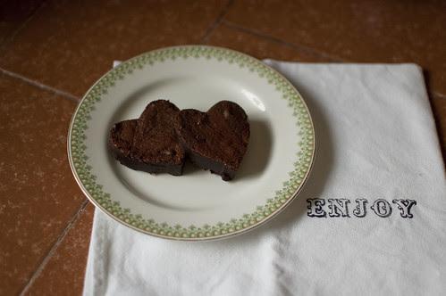 valentine's brownies, 2011