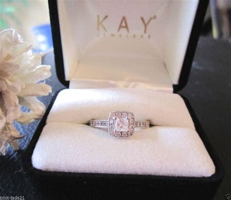 KAY JEWELERS Engagement Wedding Halo Princess Cut Diamond