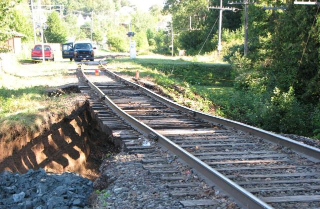 NB Southern Track Washout