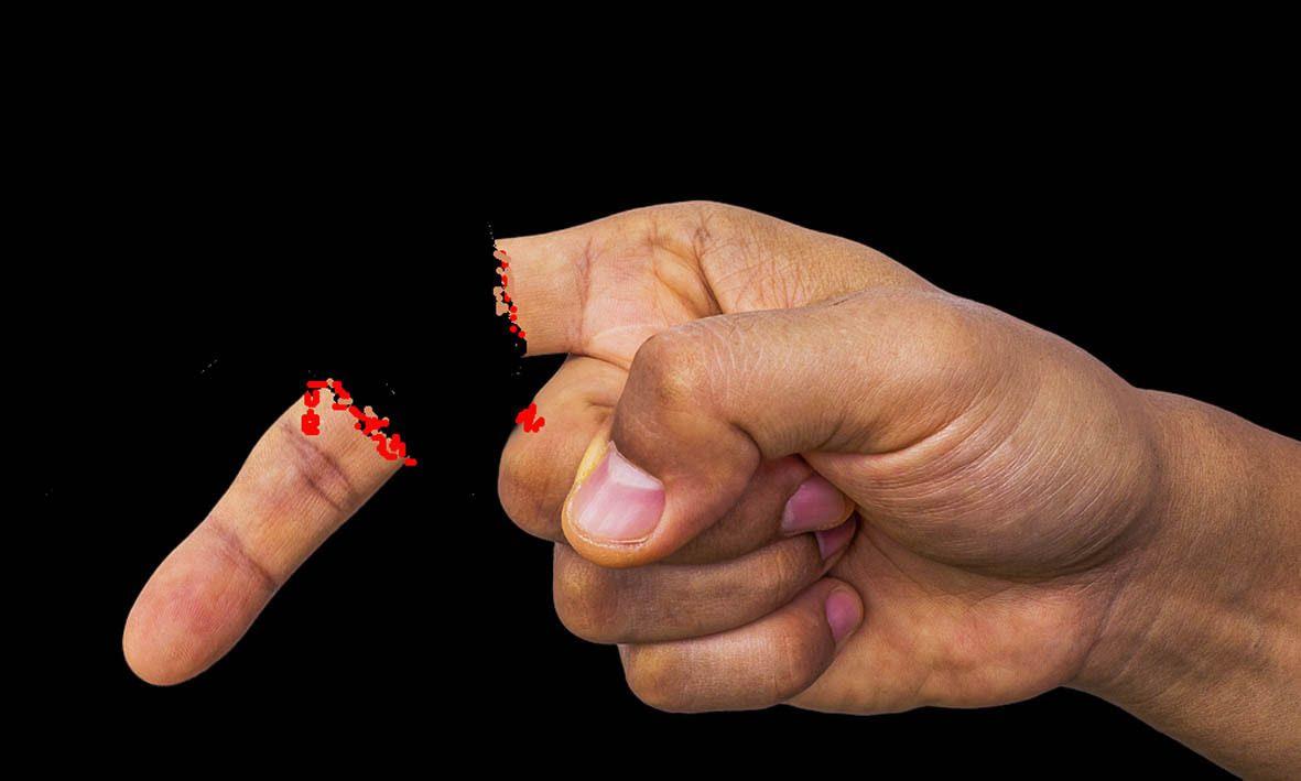Candellana Bougies main faisant un doigt dhonneur
