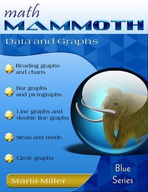 Math Mammoth Data and Graphs math book cover