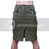 Immature Olive  Rear Pocket Skirt