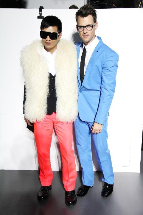 Bryanboy and Brad Goreski at Calvin Klein
