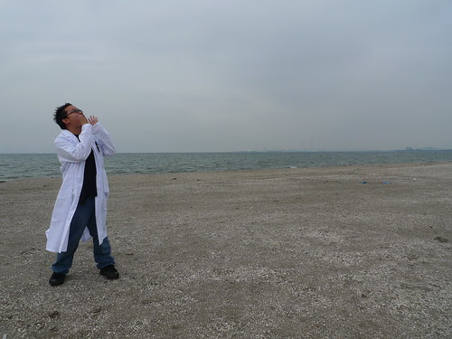 Me, dressed up as a doctor, shouting to the sky