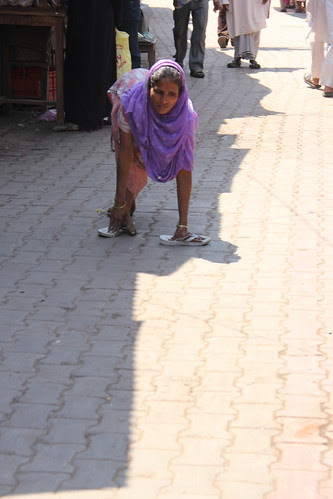 The Lady Beggar Three  Legs Dewa Sharif by firoze shakir photographerno1
