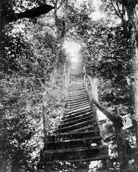 steep stairs that led to the John Rankin house