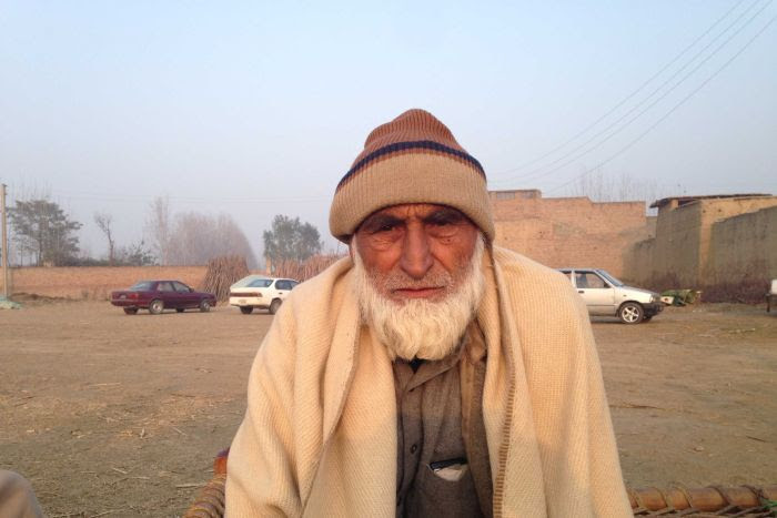 Muntazir Shah, father of Haider Ali who was killed at the Bacha Khan University.