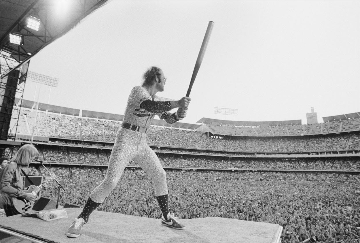 elton john's 1975 dodger stadium concerts  thighs wide shut