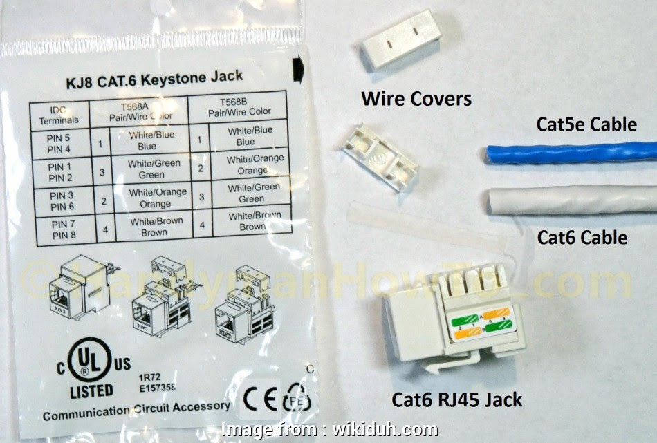 Cat6 Keystone Jack Wiring Diagram Practical Cat6 RJ45 ...