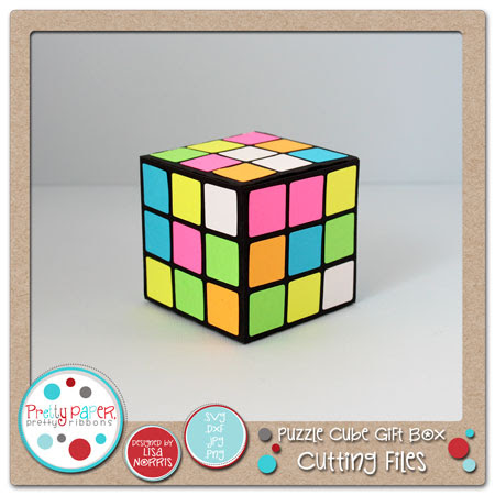 Puzzle Cube Gift Box Cutting Files