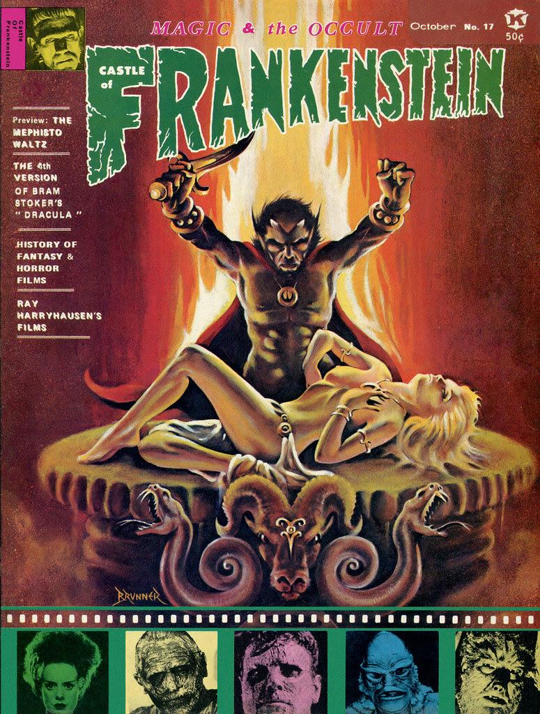 Castle Of Frankenstein, Issue 17 (1971)Cover Art by Frank Brunner
