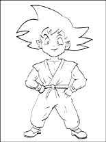Son Goku Dragon Ball Coloring Page Coloring Pages