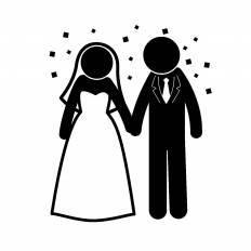 結婚式シルエット イラストの無料ダウンロードサイトシルエットac