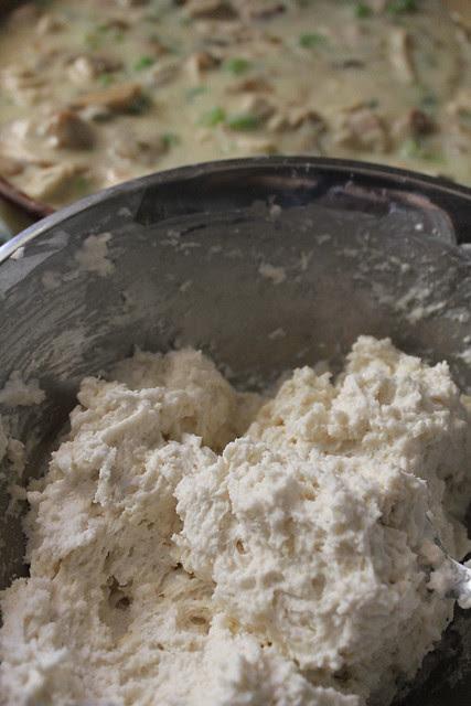 Chicken Pot Pie with Drop Biscuits