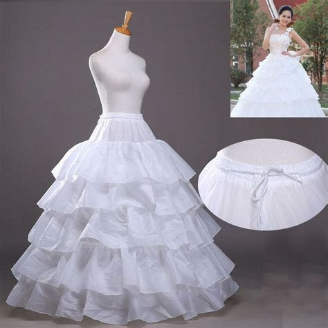 White 4 Hoop 5 Layer Petticoat Crinoline Bridal Wedding