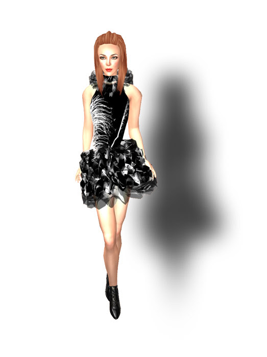 Xstreet Freebie Aurum Feather Dress