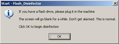 flash-disinfector insert your flash drive