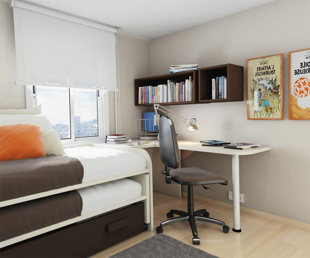 Small Bedroom Desks for a Narrow Bedroom Space - HomesFeed