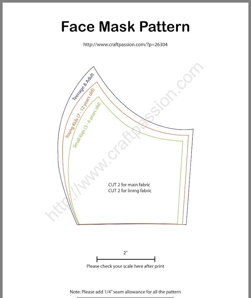 Diy Face Mask Pattern Printable