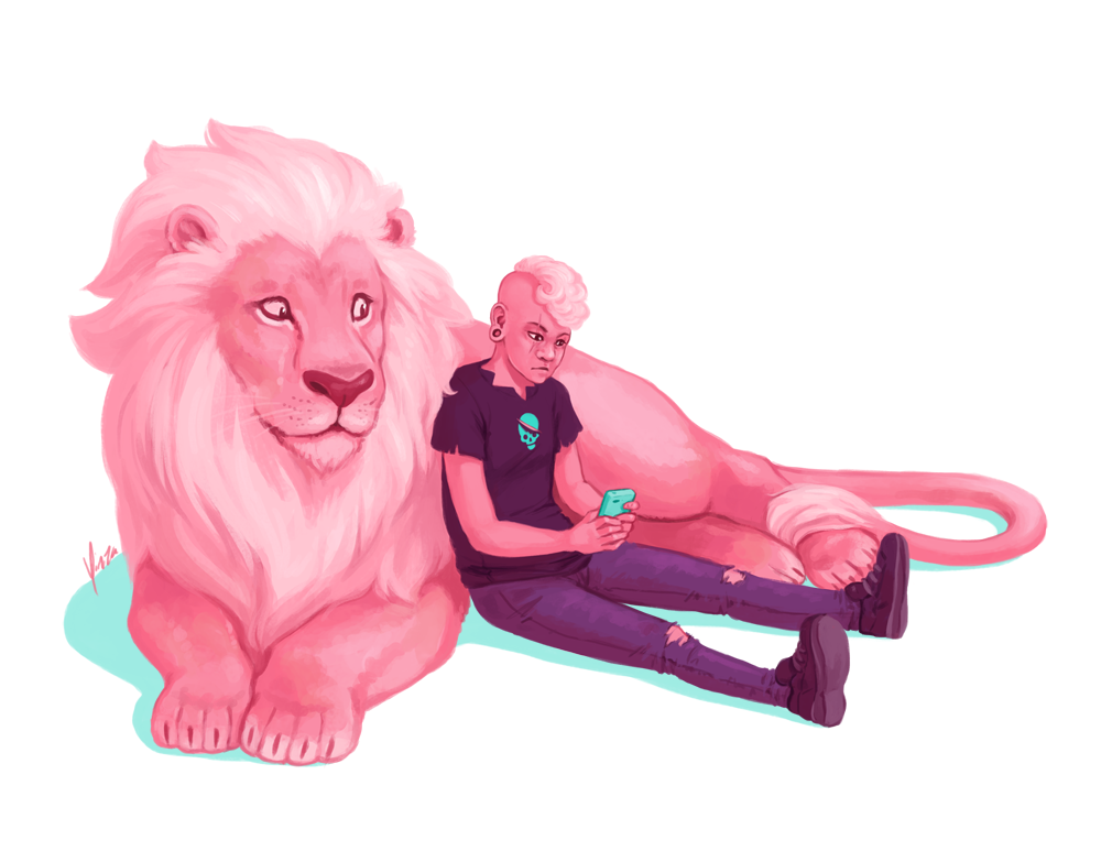Pink pals. I honestly can't remember if they've even met but they need to hang out now.