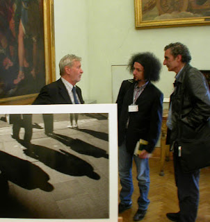 Gianni Vattimo, Emiliano Morrone e Francesco Saverio Alessio alla presentazione de La società sparente, Campidoglio, Roma, lunedì 1 ottobre 2007