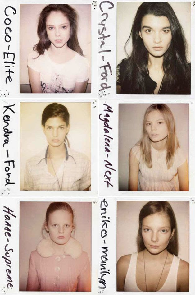 LE FASHION BLOG DOUGLAS PERRETT WILD THINGS BOOK MODEL CASTING PHOTOGRAPHS BEFORE COCO ROCHA CRYSTAL RENN ENIKO MIHALIK KENDRA SPEARS HANNE GABY MAGDALENA FRACKOWIAK POLAROIDS 9