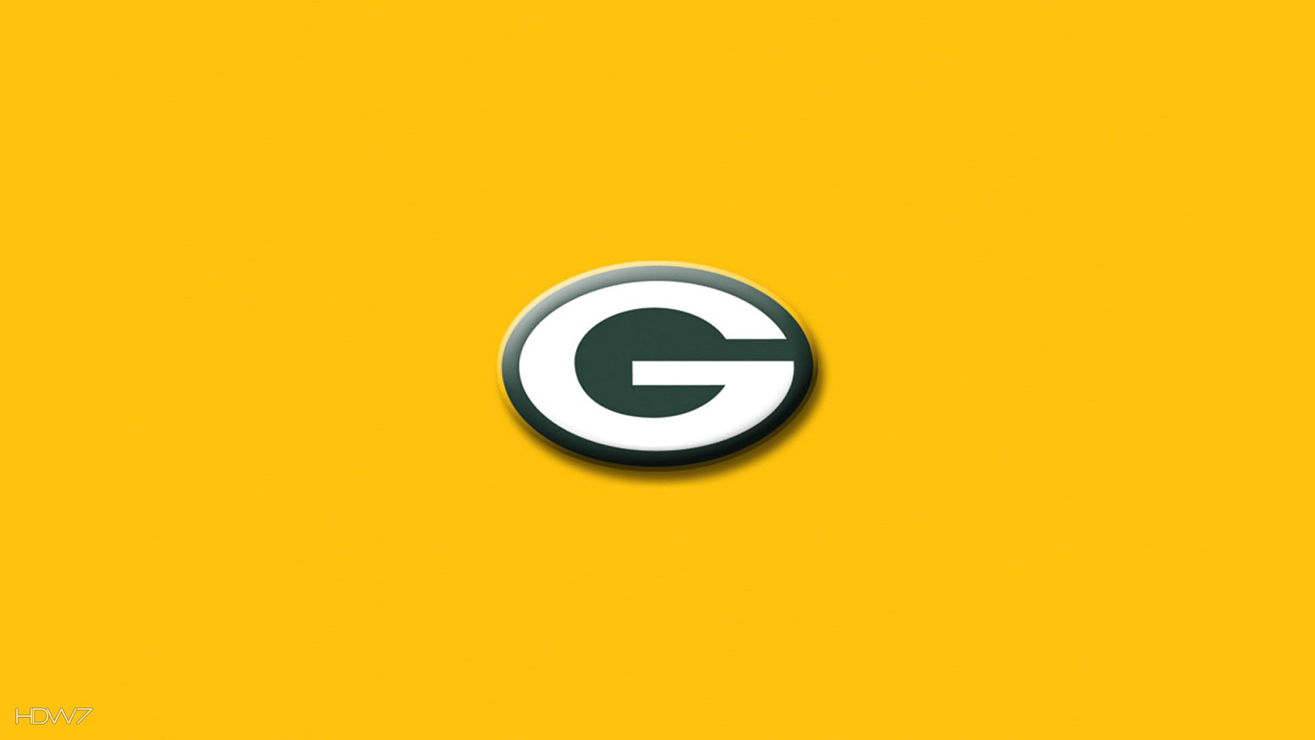 Green Bay Packers Simple Logo Yellow Wallpaper Hd Wallpaper