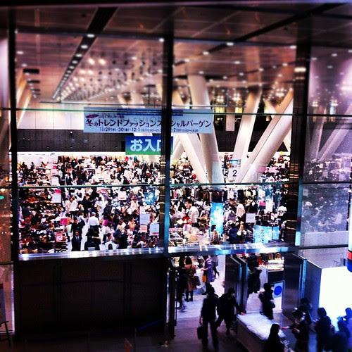 A fashion exhibition in Tokyo International Forum. I think of Gattaca.
