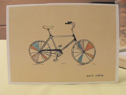 bicycle art print by Sara Estes