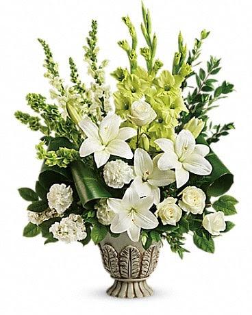Teleflora S Clouds Of Heaven Bouquet In West Los Angeles Ca Sharon Flower Design