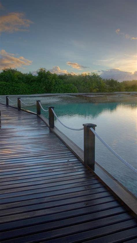 water nature bridges sea wallpaper